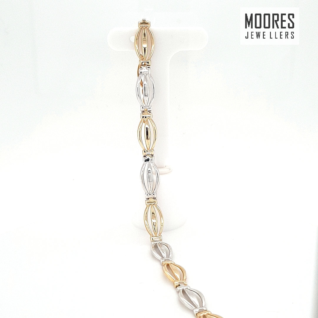 9ct. White & Yellow Gold Bracelet