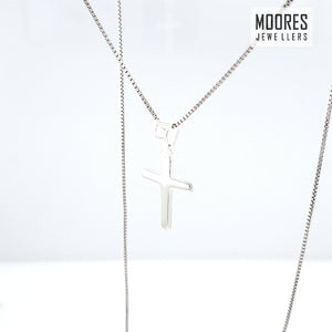 Sterling Silver Plain Children's Cross and Chain