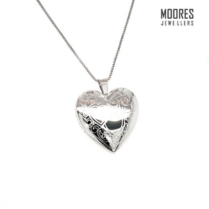 Sterling Silver Large Heart Shaped Locket
