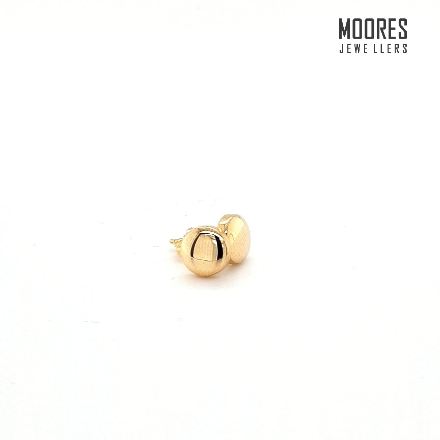 9ct. Yellow Gold Flat Stud Earrings