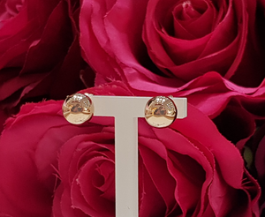 9ct. Rose Gold Ball Stud Earrings