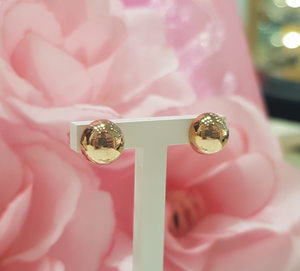 9ct. Rose Gold Half Round Ball Stud Earrings