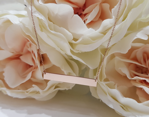 9ct. Rose Gold Identity Pendant and Chain