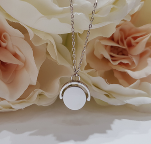 Sterling Silver Rotating Disc Pendant and Chain