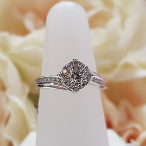 18ct. White Gold Halo Diamond Ring