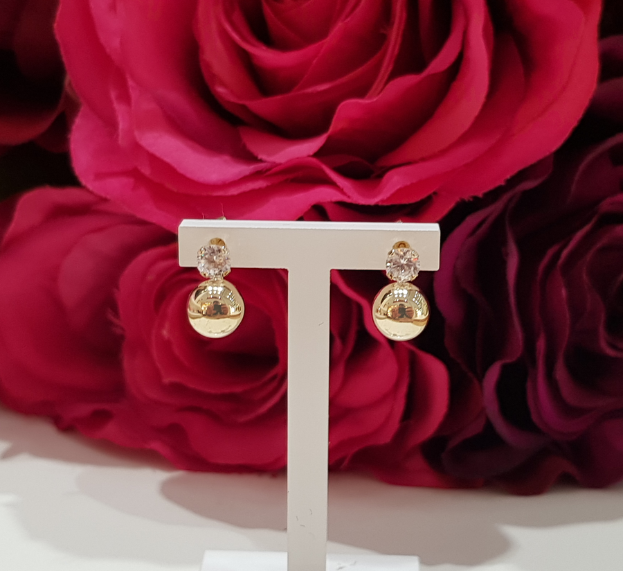9ct. Yellow Gold Stone Set Ball Stud Earrings