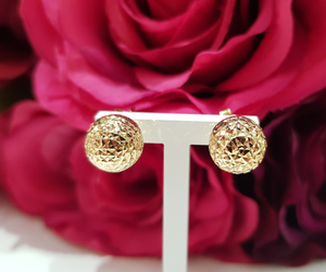 9ct. Yellow Gold Faceted Ball Stud Earrings