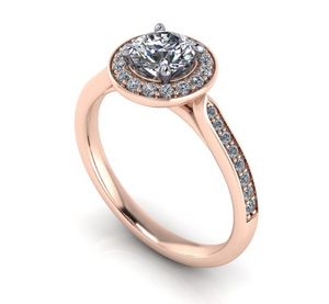 Bespoke Halo Style Diamond Engagement Ring by Moores