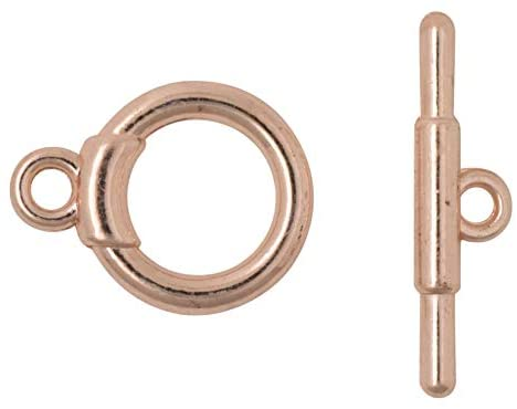Rose Gold T-Bar Toggle Clasp