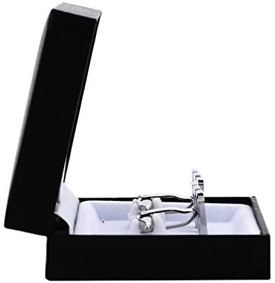 Side View of Cufflinks in Box