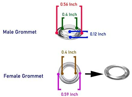 Measurements of Single Male and Female Grommets