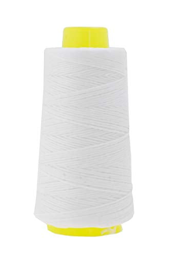 White Lacing Cord String from Wax Polyester