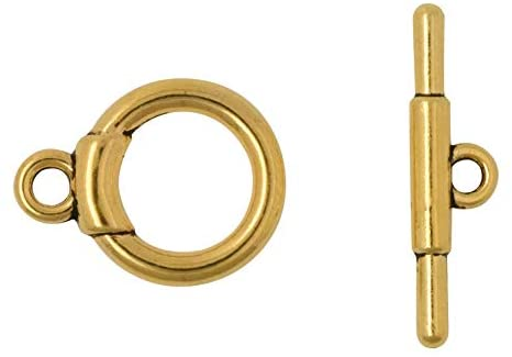 Gold T-Bar Toggle Clasp