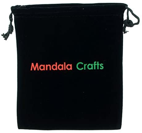 Mandala Crafts Black Velvet Gift Bag