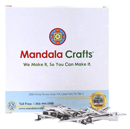 Mandala Crafts Box with Metal Clips