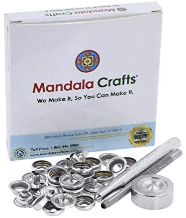 Mandala Crafts Box with Leather Button Kit