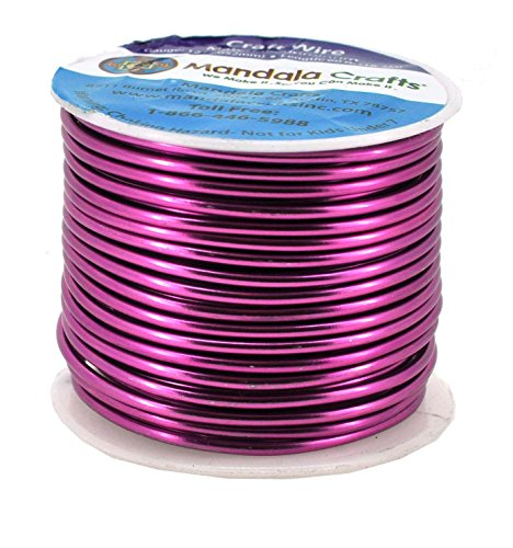 20 Gauge, Combo 8 Mandala Crafts 12 14 16 18 20 22 Gauge Anodized Jewelry Making Beading Floral Colored Aluminum Craft Wire Wholesale Combo