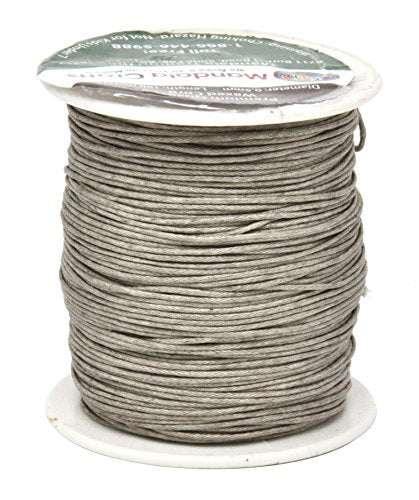 Mandala Crafts 0.5mm 109 Yards Jewelry Making Crafting Beading Macramé Waxed Cotton Cord Thread