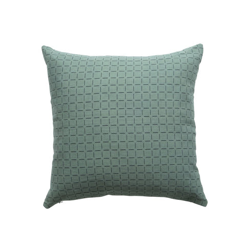 BOTTLE GREEN BROKEN CHECK CUSHION 50CM