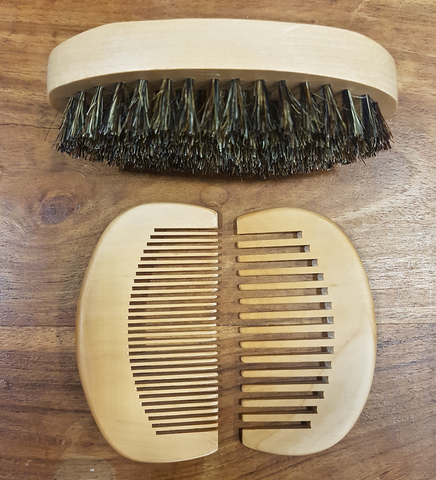 Beard Brush and Comb kit