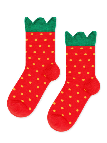 Mini Strawberry Crew Sock