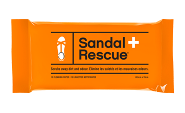 Sandal Rescue wipes