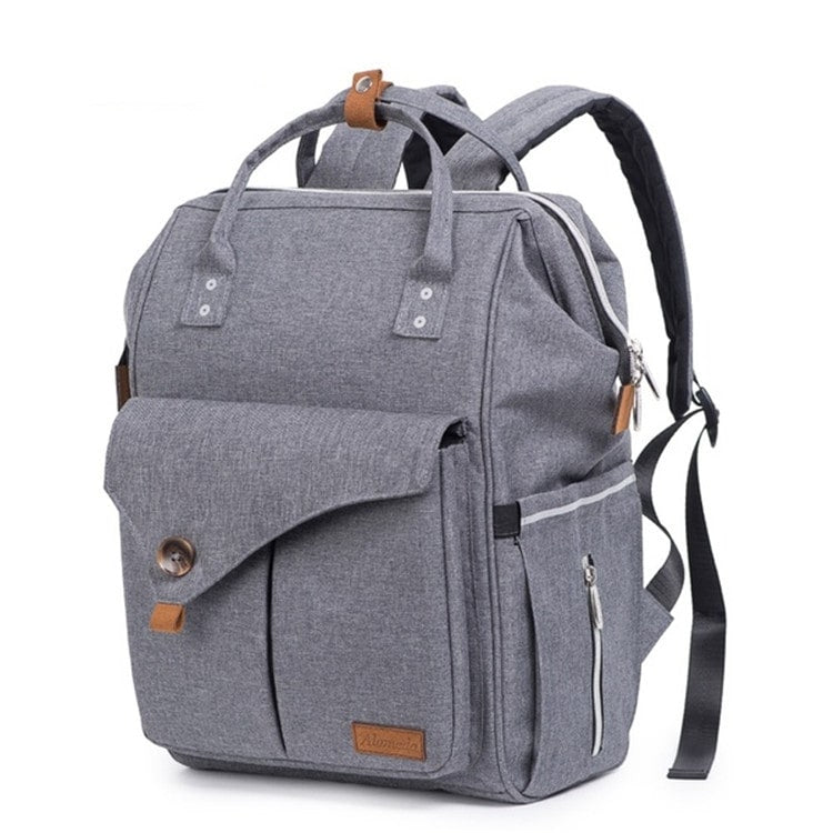 mommy-reflective-diaper-bag-gray