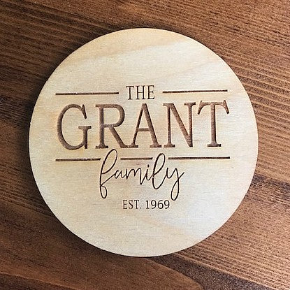 Family Name Coasters