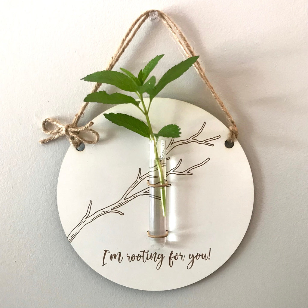 """I'm Rooting For You"" Propagation Bud Vase Graduation Gift"