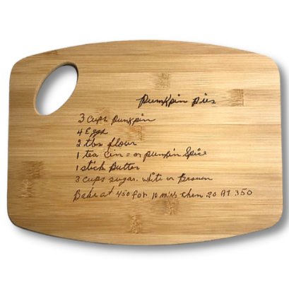 Original Handwriting Engraved Bamboo Cutting Board