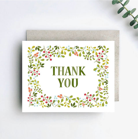 Thank You with Wildflowers Card
