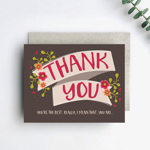 Really the Best Thank You Card