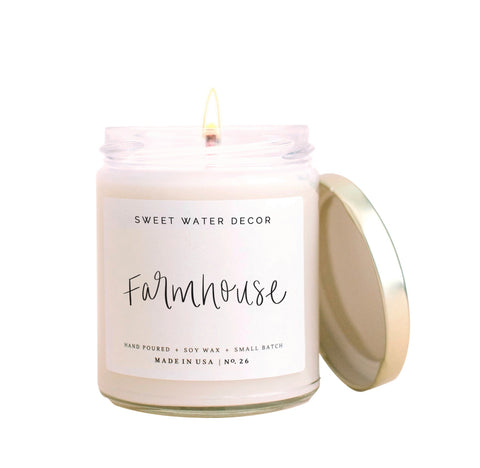 Hand Poured Soy Candle - Farmhouse