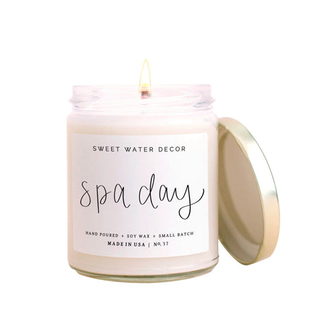 Hand Poured Soy Candle - Spa Day