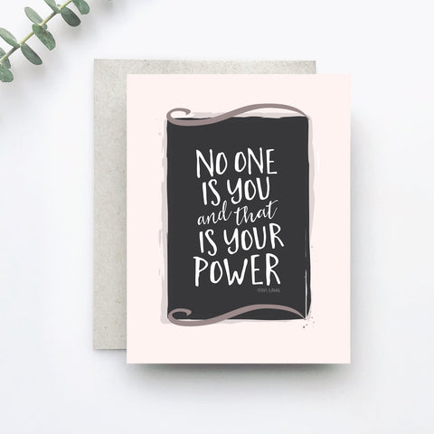 No One is You Greeting Card