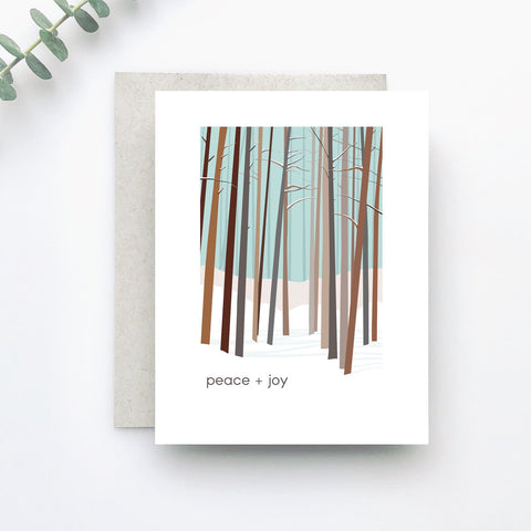 Peaceful Woods Holiday Greeting Card