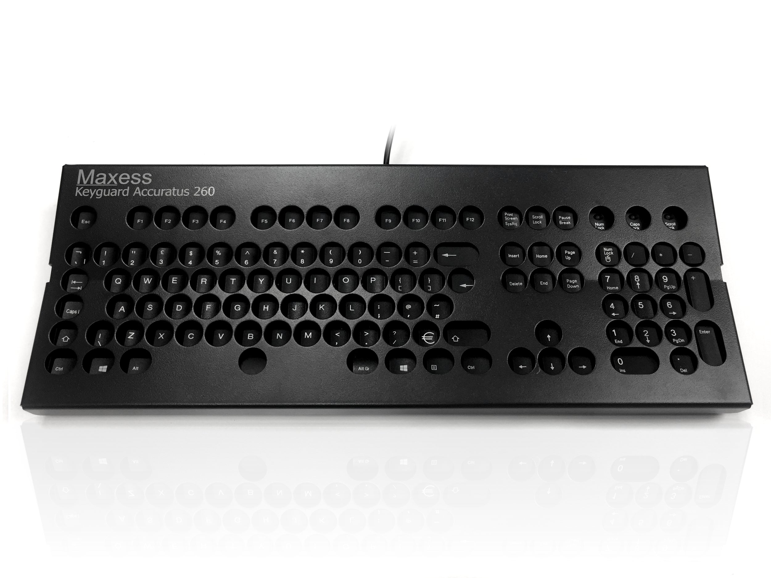 Accuratus 260 Keyguard - Metal Keyguard for Accuratus 260 Keyboards