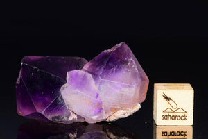Twin Terminated AMETHYST 35x26mm from Morocco