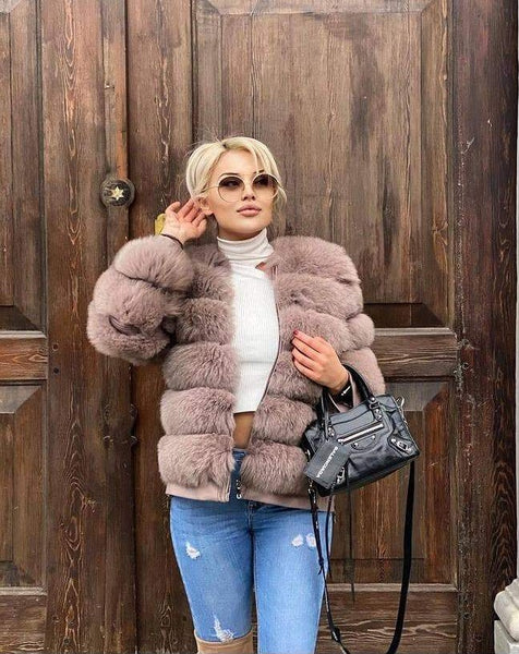 6-7 Women Finn Fox Fur Jacket