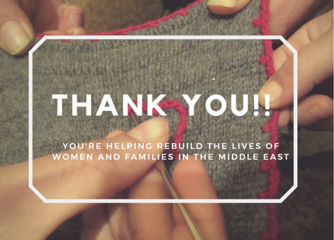 Thank you! You're helping rebuild the lives of women and families in the middle east