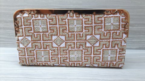 Wide Single zip Clutch