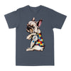 French Bulldog Peace Love Autism Classic T-shirt, Autism Awareness Shirt And Support Gift