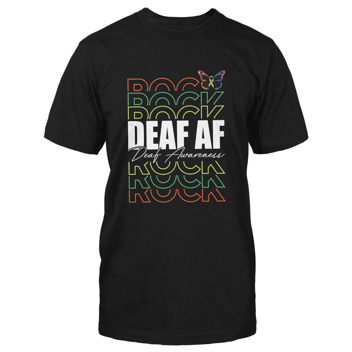 Deaf Af Deaf Awareness Classic T-shirt