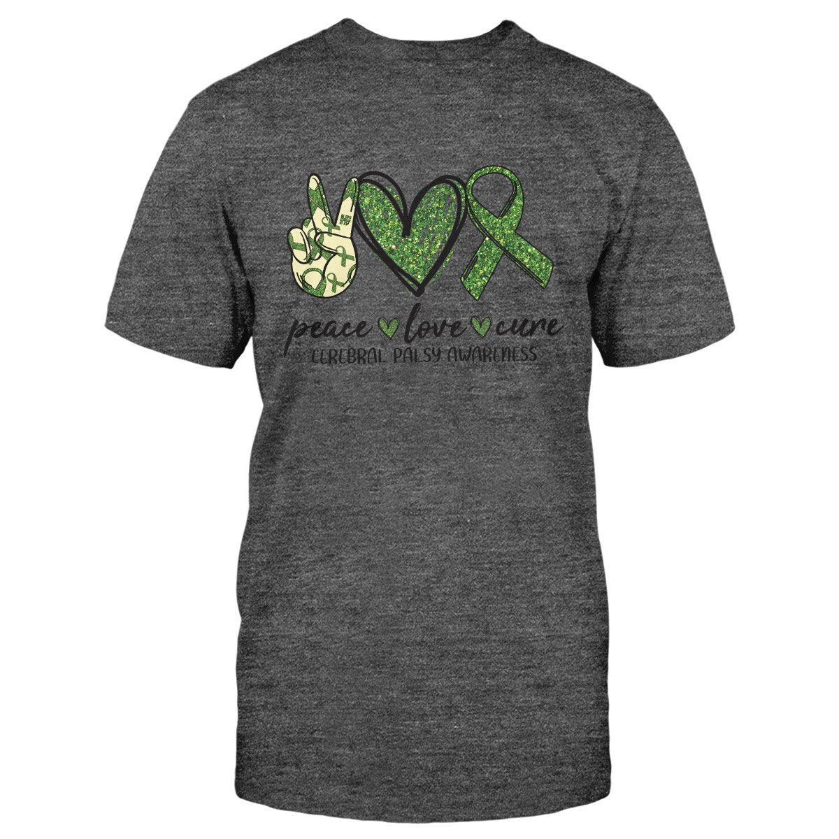 Cerebral Palsy Awareness Peace Love Cure Classic T-shirt