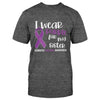 Domestic Violence Awareness I Wear Purple Classic T-shirt