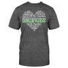 Kidney Disease Awareness Typo Heart Classic T-shirt