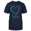 Ovarian Cancer Awareness Believe Ribbon Classic T-shirt