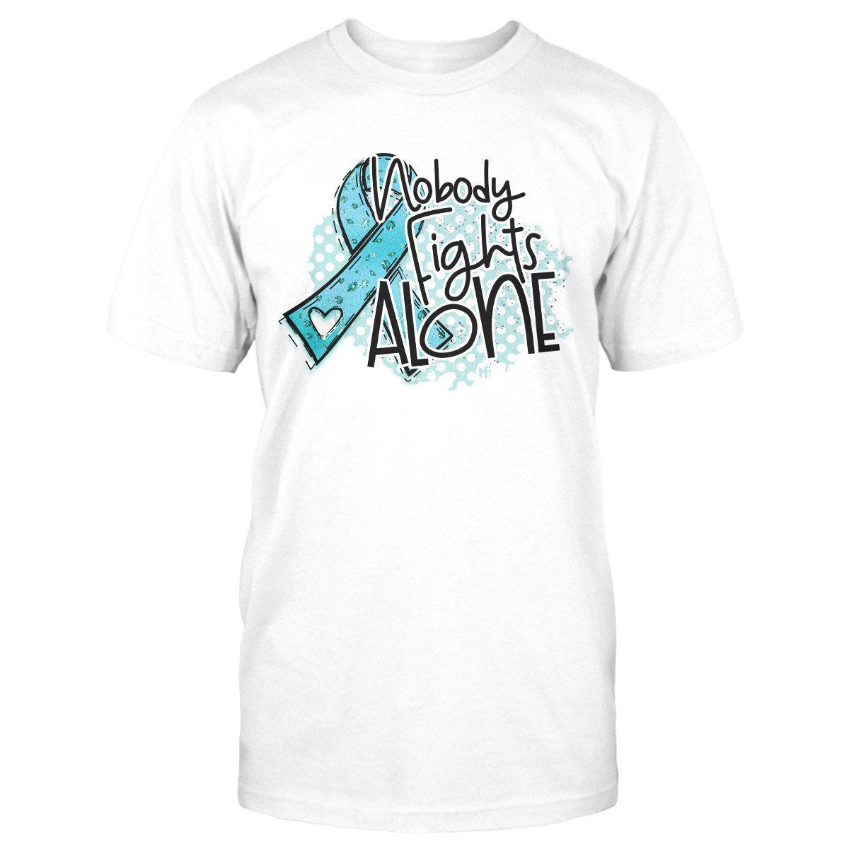 Ovarian Cancer Awareness Nobody Fights Alone Classic T-shirt