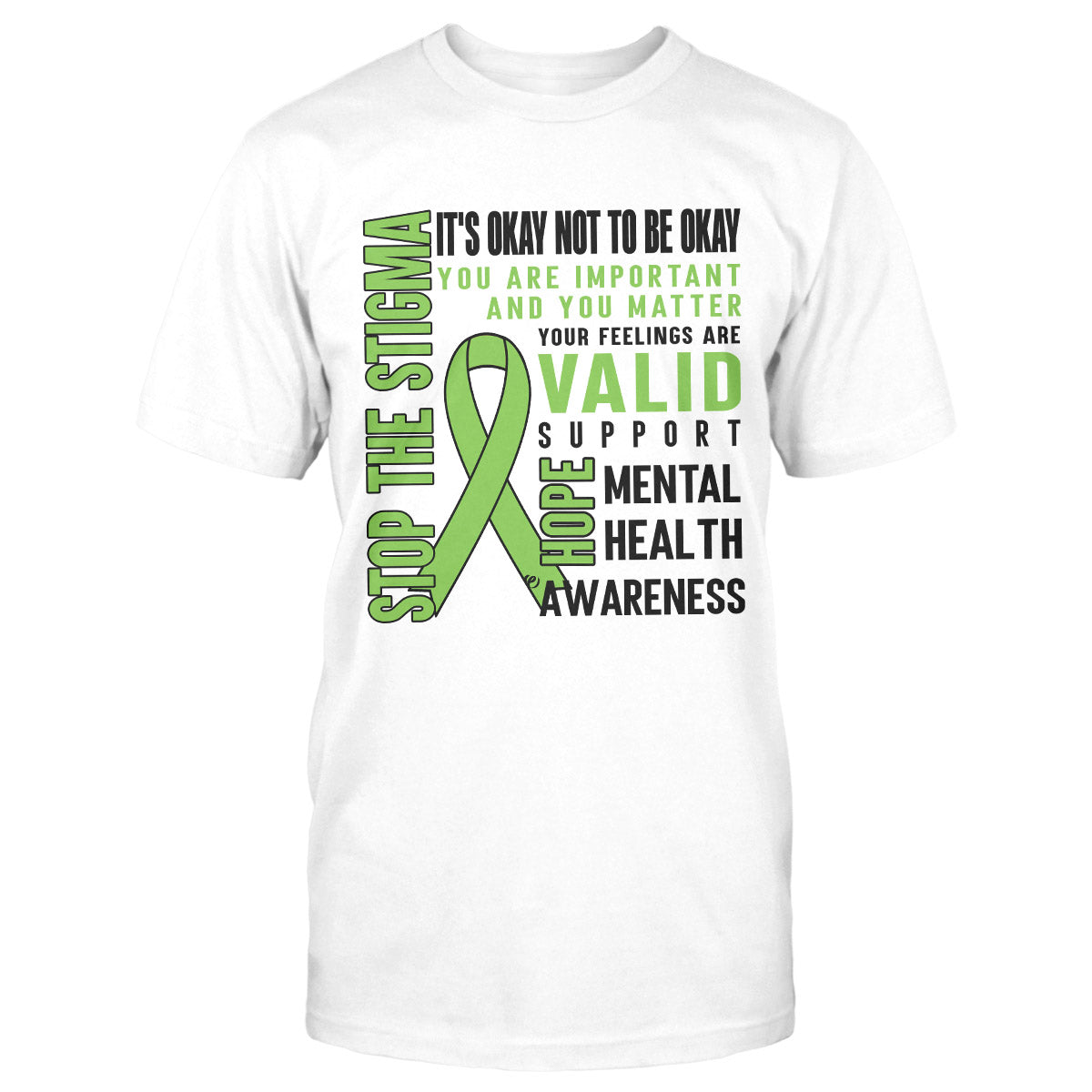 Stop The Stigma Mental Health Awareness Classic T-shirt