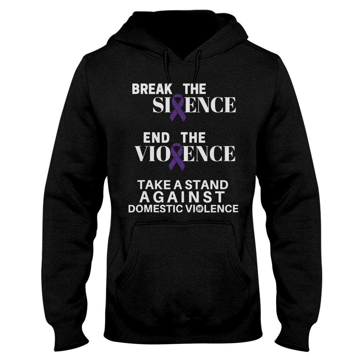 Domestic Violence Awareness Break The Silence Hoodie